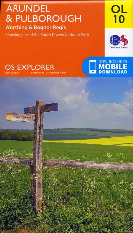 OS Explorer OL 10 Arundel & Pulborough